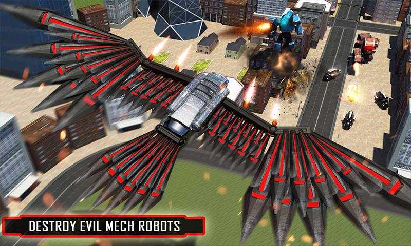 美国警方间谍乌鸦转型机器人自行车2018 游戏截图1