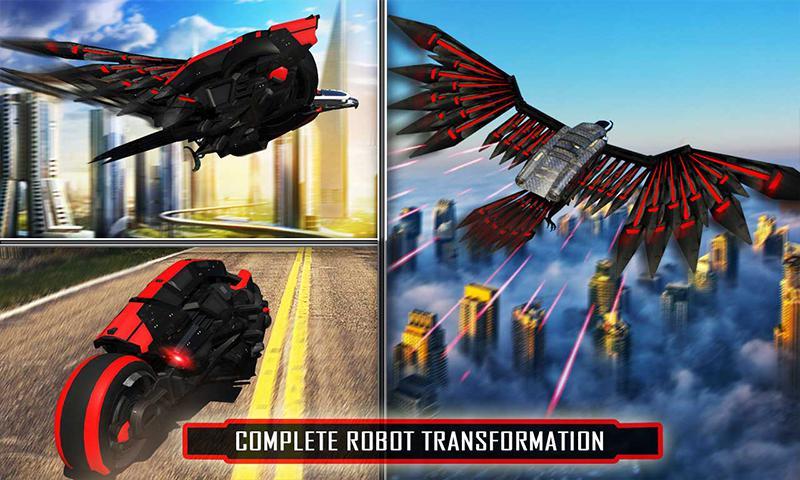 美国警方间谍乌鸦转型机器人自行车2018 游戏截图4