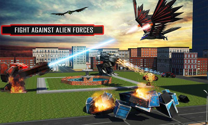 美国警方间谍乌鸦转型机器人自行车2018 游戏截图5