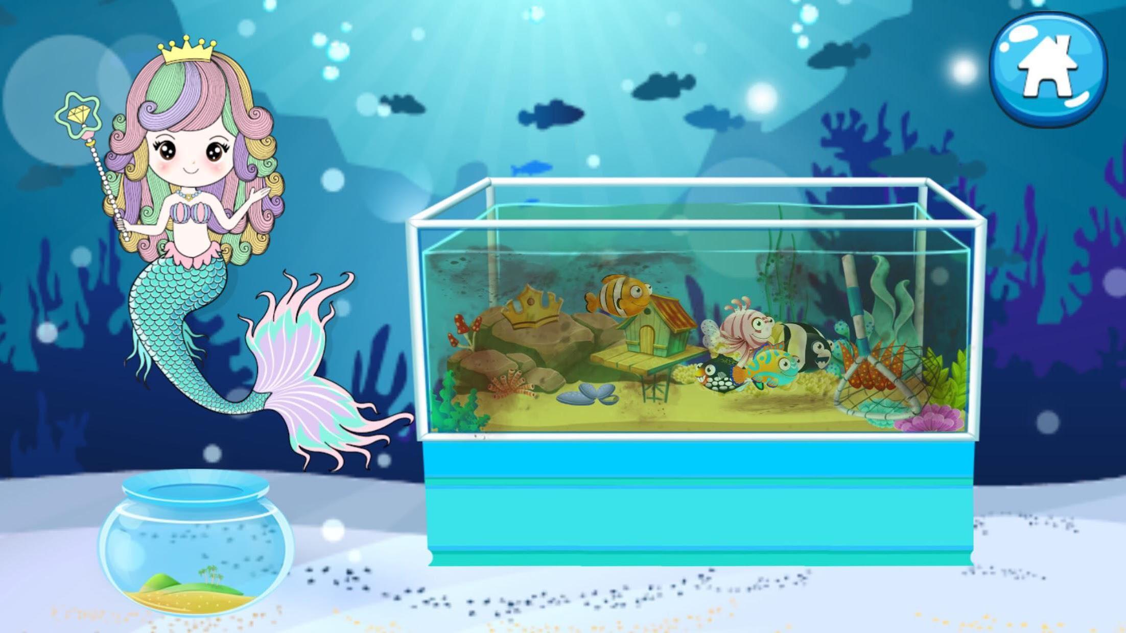Mermaid Princess Aquarium 游戏截图1
