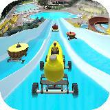 Water Slide Banana Car Stunt Race