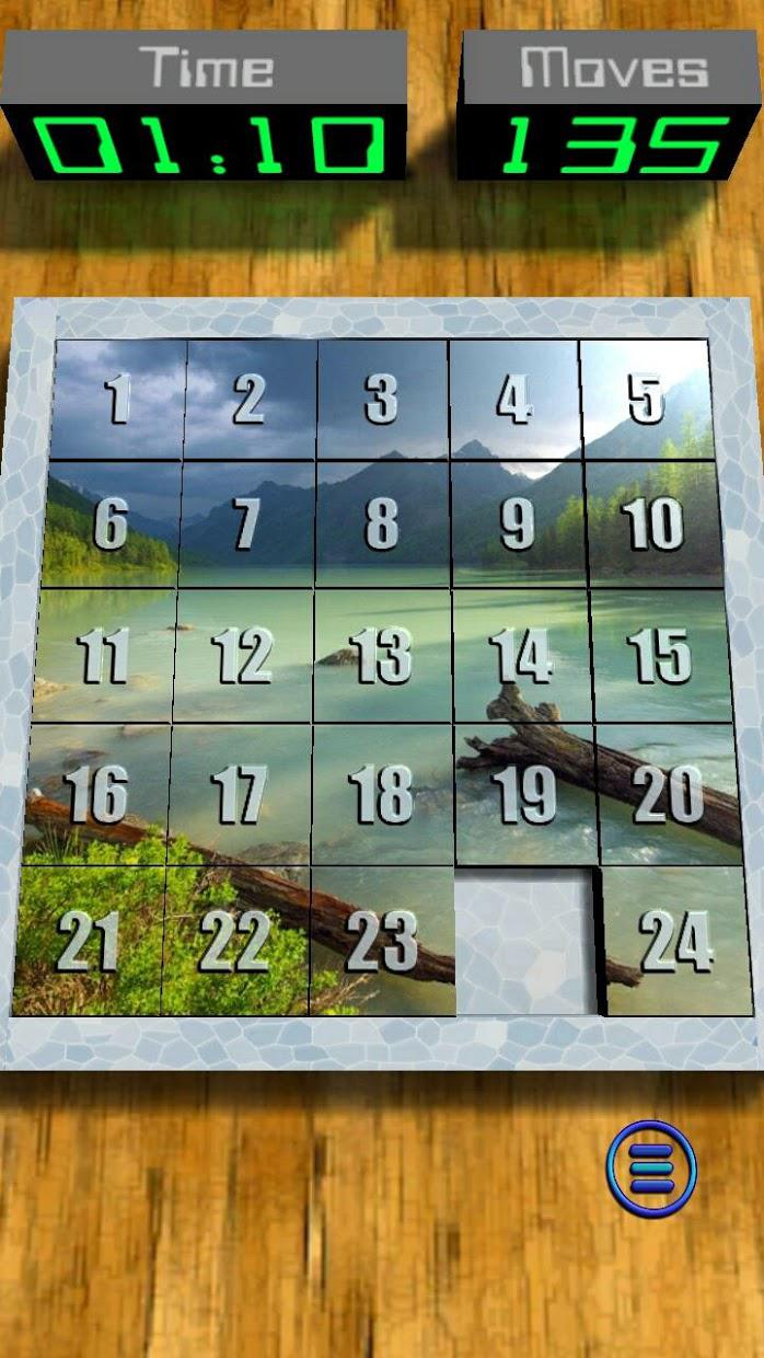 Real 15 Puzzle 3D 游戏截图4