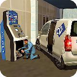 银行现金运输安全范货币卡车抢劫 3D