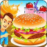 Burger Shop Food Court Game