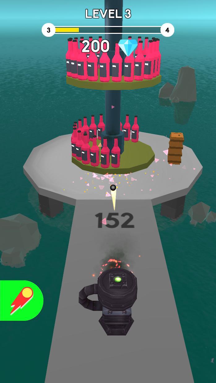 Cannon Master Bottle Shoot 游戏截图4