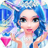 Snow Princess Salon Makeover Dress Up for Girls