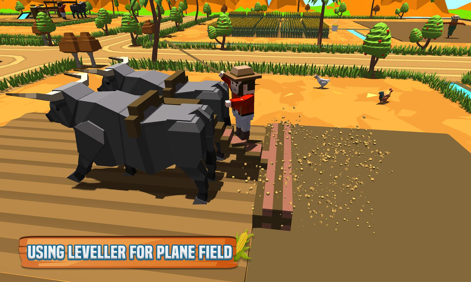 玉米农场专业:块状农民模拟器 游戏截图2
