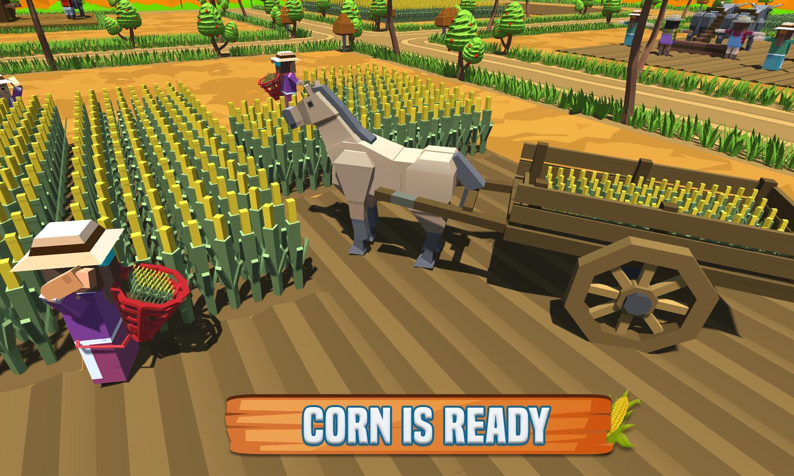 玉米农场专业:块状农民模拟器 游戏截图3