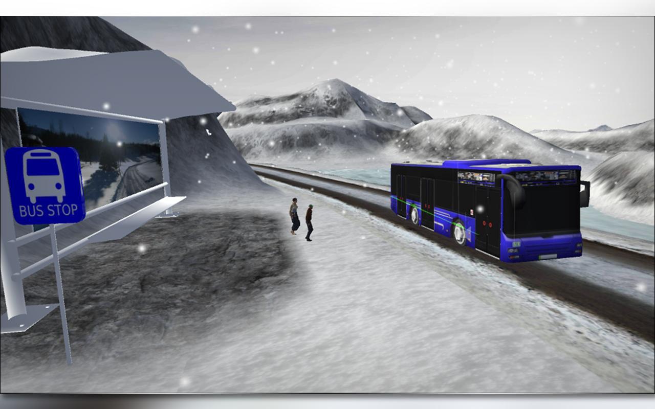雪 公共汽车 司机 游戏截图3