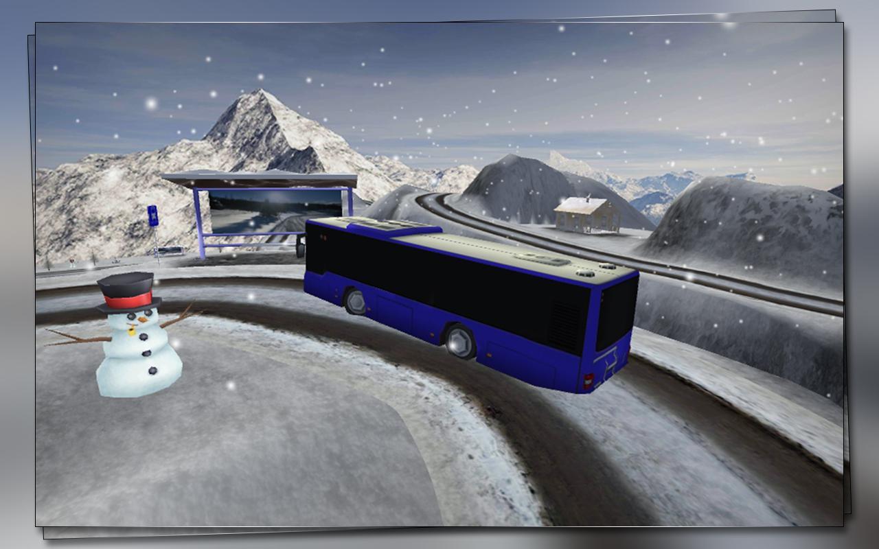 雪 公共汽车 司机 游戏截图4