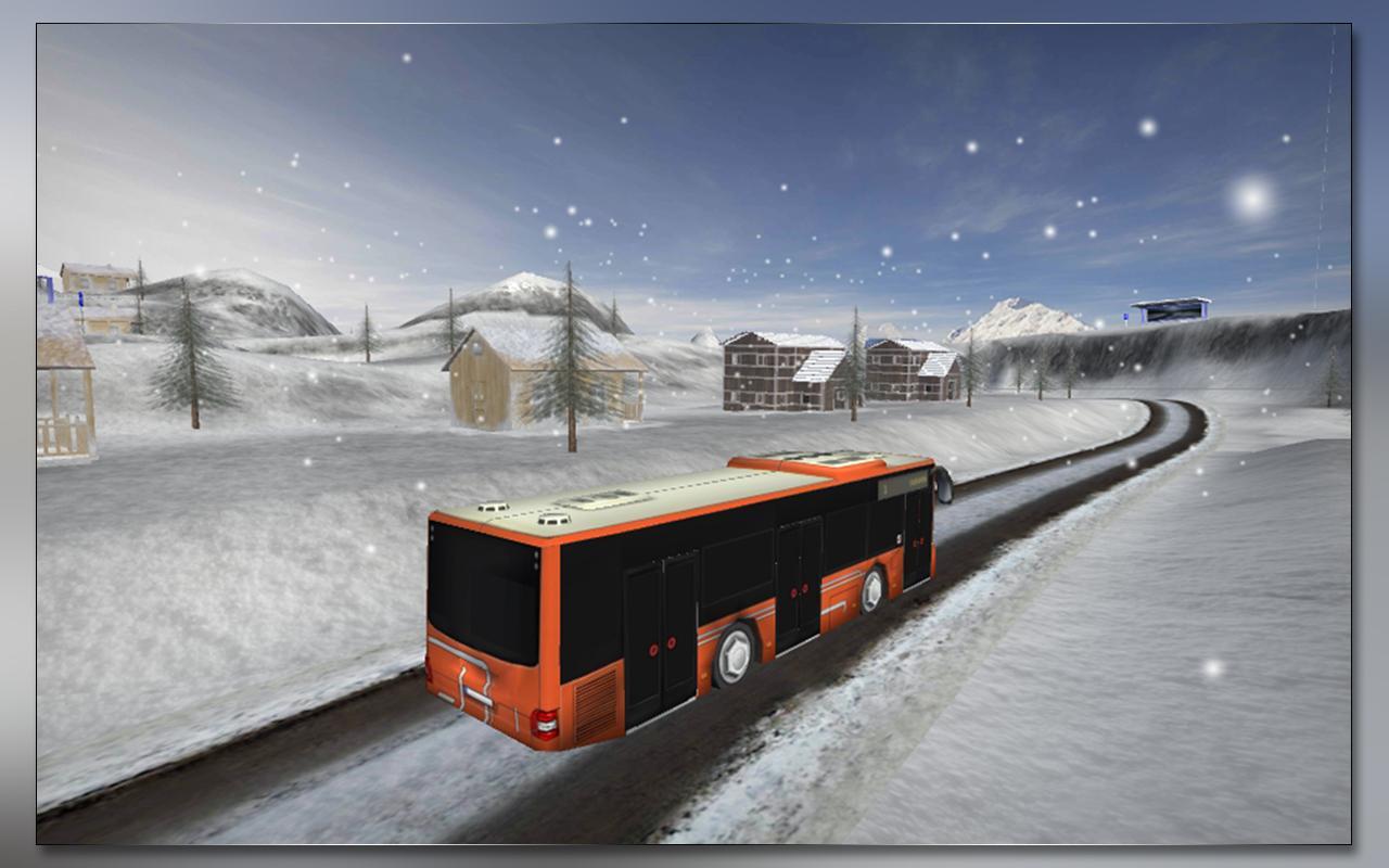 雪 公共汽车 司机 游戏截图5