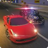 高速公路警察追逐赛车