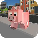 Blocky城市猪模拟器3D