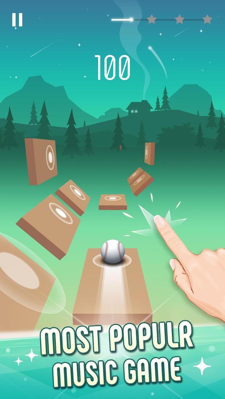 Twist Ball: 3D钢琴音乐块 游戏截图1