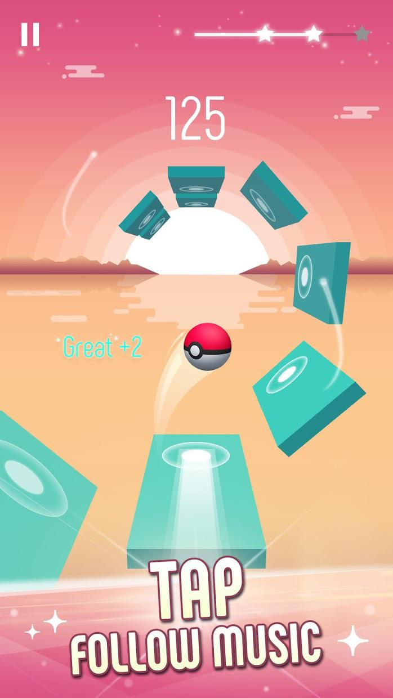 Twist Ball: 3D钢琴音乐块 游戏截图2