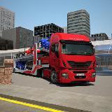 卡车停车:汽车运输车