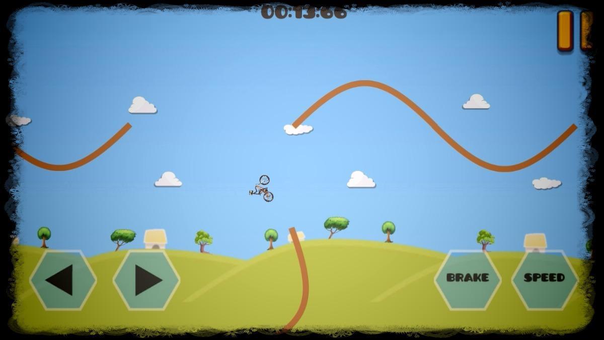 跳转自行车 - 山地极限 游戏截图1