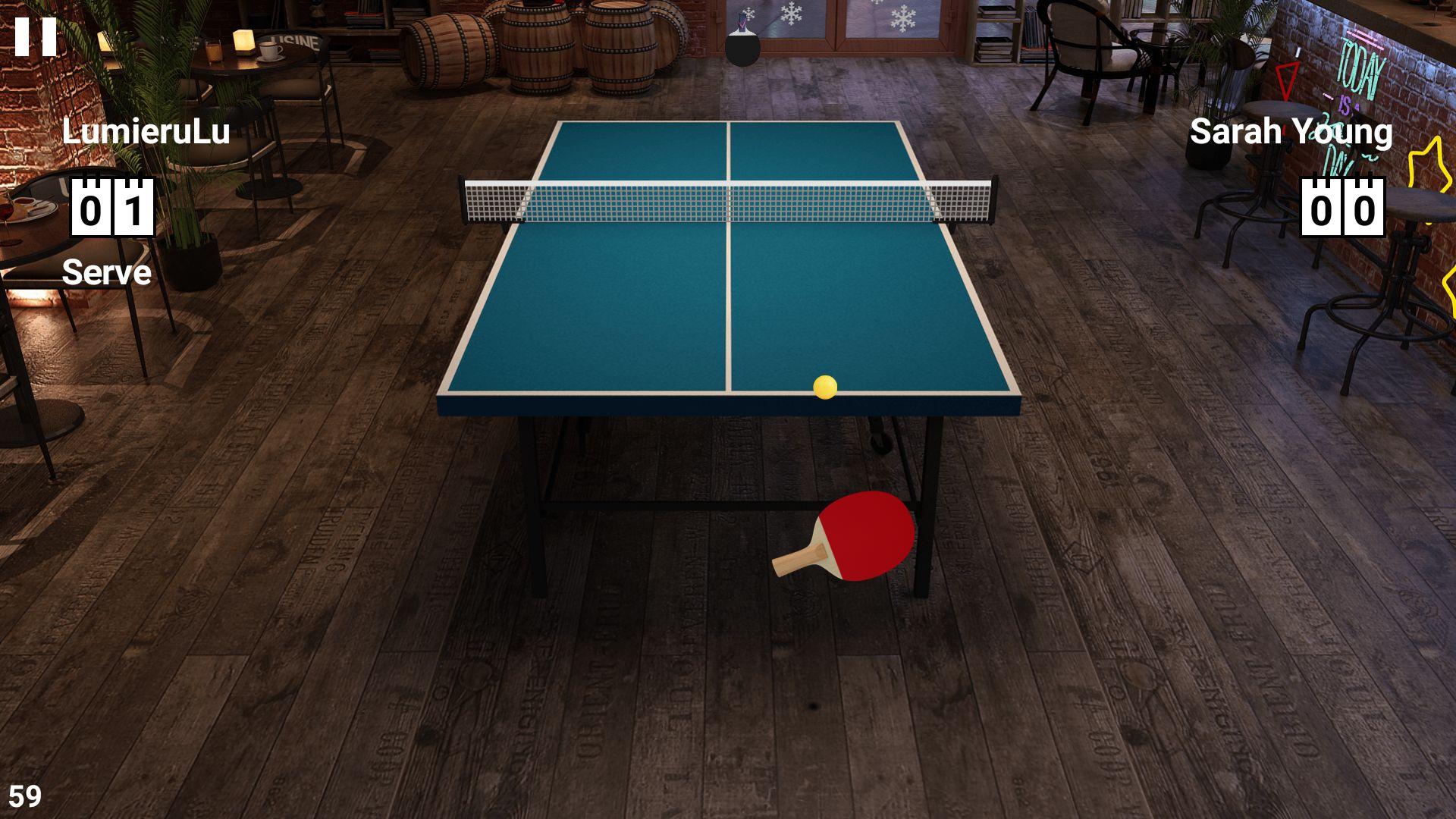 虚拟乒乓球 游戏截图2