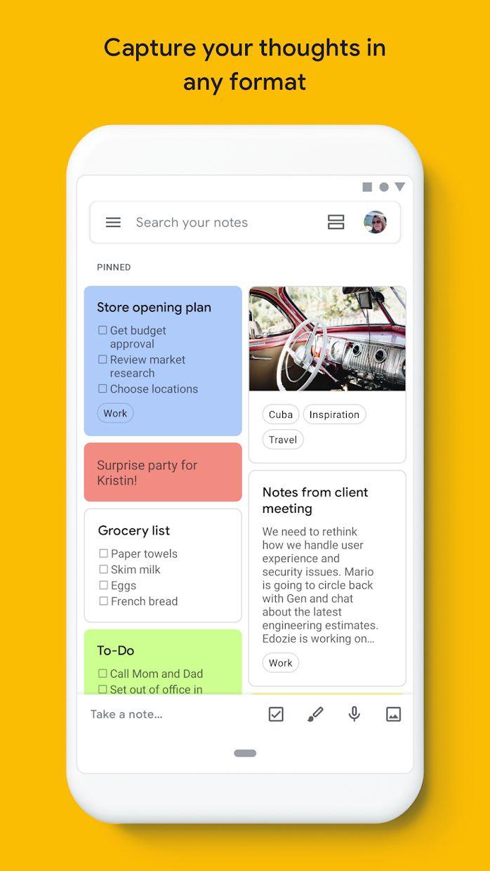 Google Keep - 记事和清单 游戏截图1