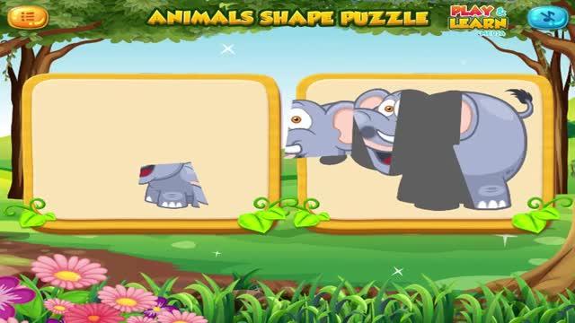 动物拼图游戏