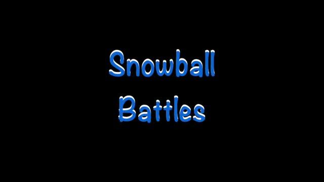 2人玩雪球战