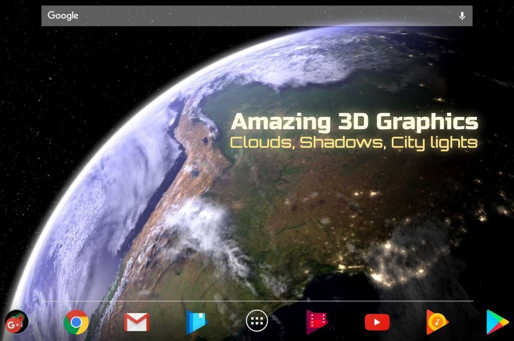Earth & Moon in HD Gyro 3D Parallax Live Wallpaper 游戏截图2