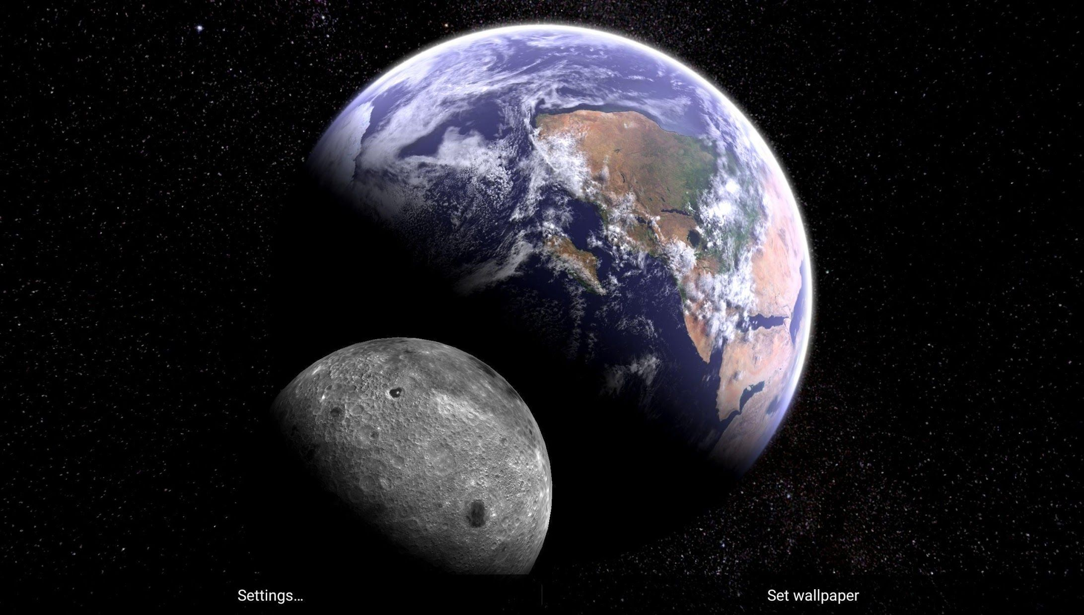 Earth & Moon in HD Gyro 3D Parallax Live Wallpaper 游戏截图4