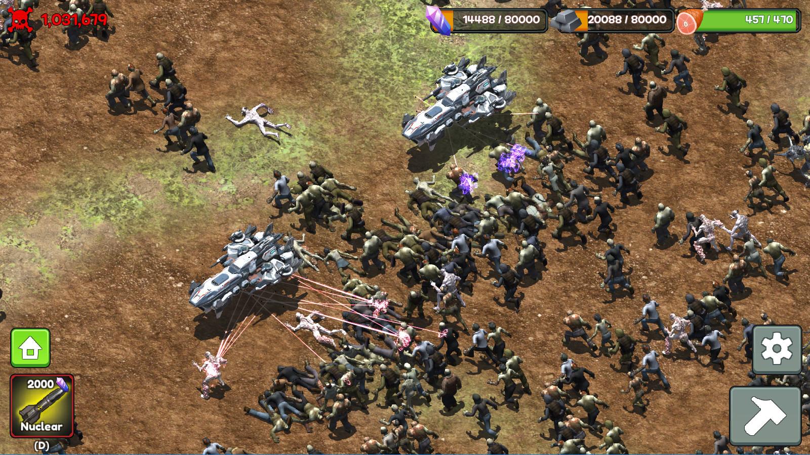 RTS+塔防的《僵尸潮:灭绝》,数不清的僵尸要打,根本停不下来