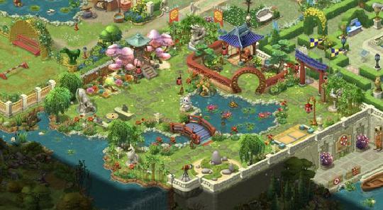 梦幻花园完成后的图片