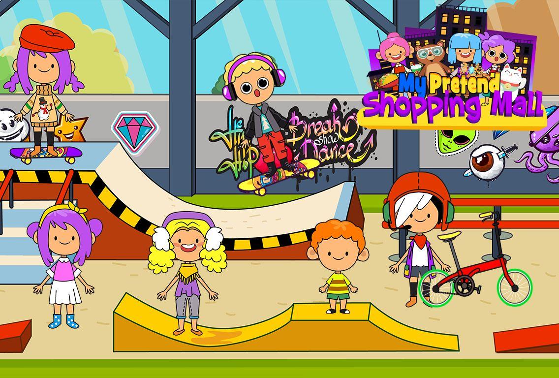 My Pretend Mall - Kids Shopping Center Town Games 游戏截图1