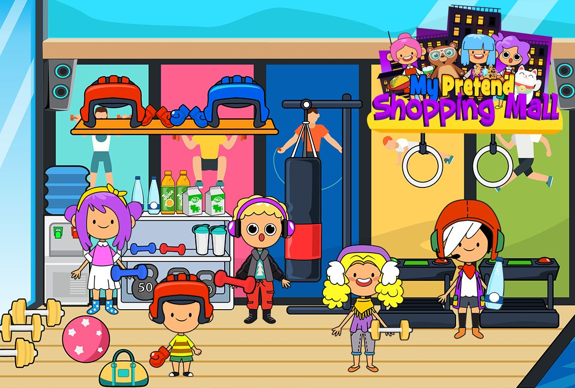 My Pretend Mall - Kids Shopping Center Town Games 游戏截图2