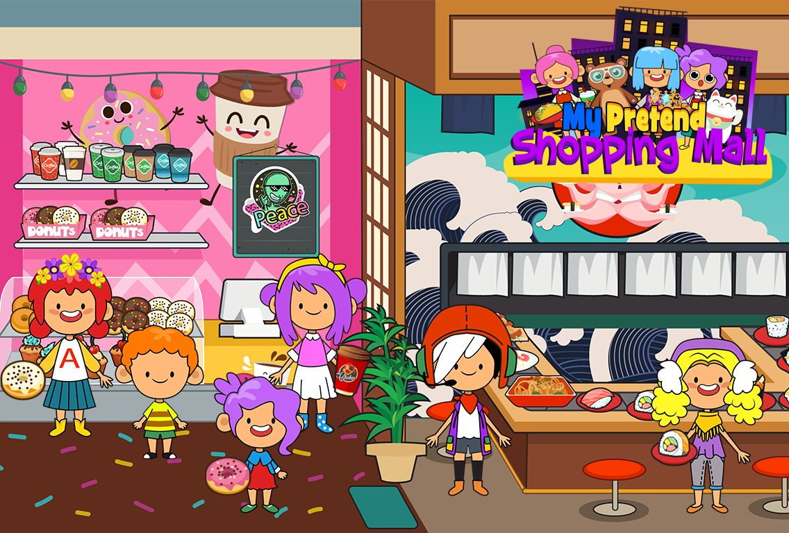 My Pretend Mall - Kids Shopping Center Town Games 游戏截图3