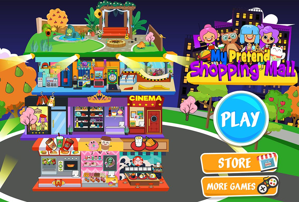 My Pretend Mall - Kids Shopping Center Town Games 游戏截图5