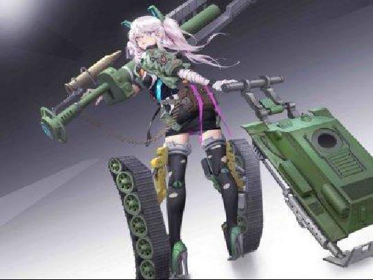 闪电战少女与战车涂装彰显不俗实力