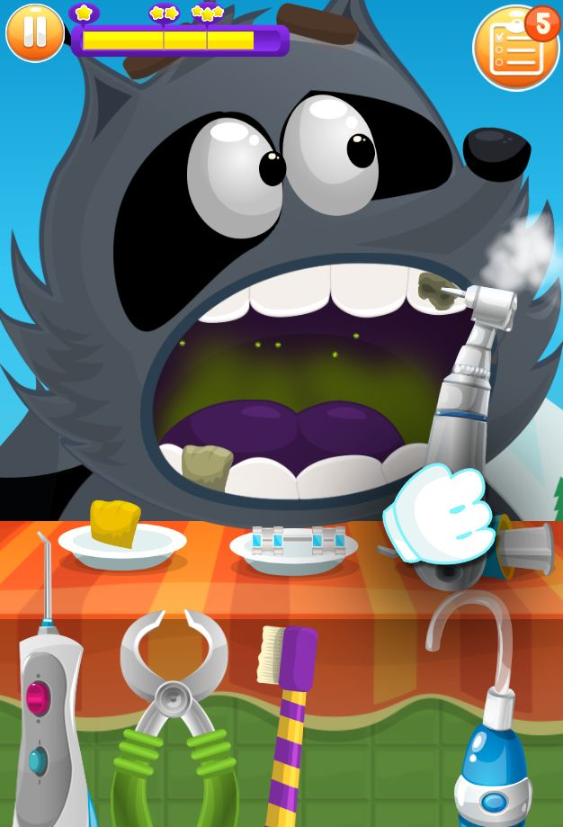 Doctor Teeth fixed- Dentist games for kids 游戏截图3