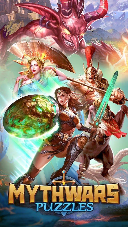 MythWars & Puzzles:RPG Match 3 游戏截图1