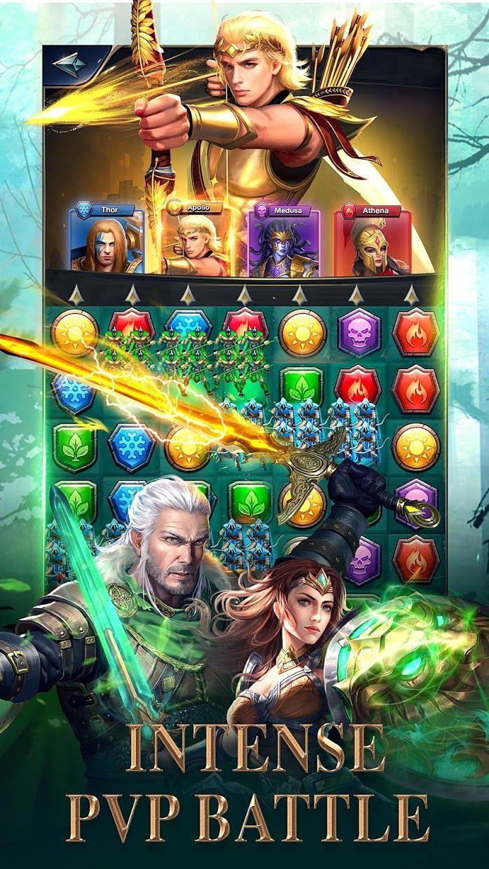 MythWars & Puzzles:RPG Match 3 游戏截图3