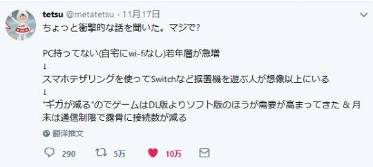 让人惊讶的日本游戏现状——家里没WIFI,只能用流量玩主机 图片2
