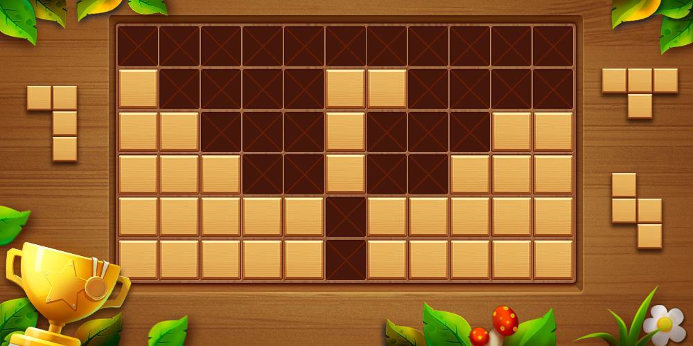 Wood Block Puzzle - Free Classic Block Puzzle Game 游戏截图1