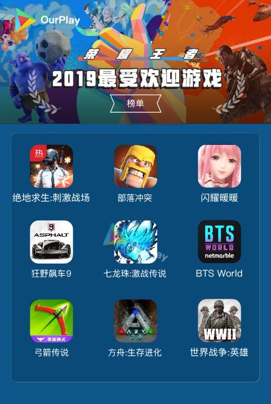 玩家票选《2019最受欢迎手游》,你心目中的No.1入榜了吗? 图片1
