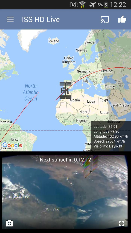 国际空间站高清实况:观看地球实况(ISS HD Live: View Earth Live) 游戏截图1