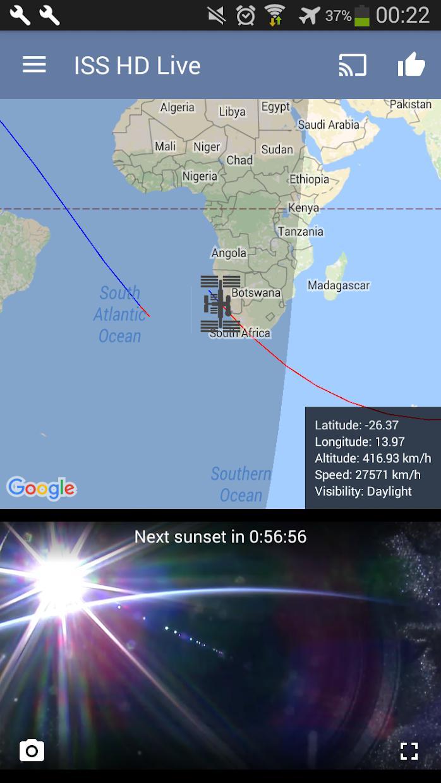 国际空间站高清实况:观看地球实况(ISS HD Live: View Earth Live) 游戏截图4