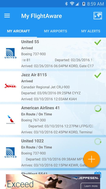 FlightAware 航班跟踪 游戏截图2