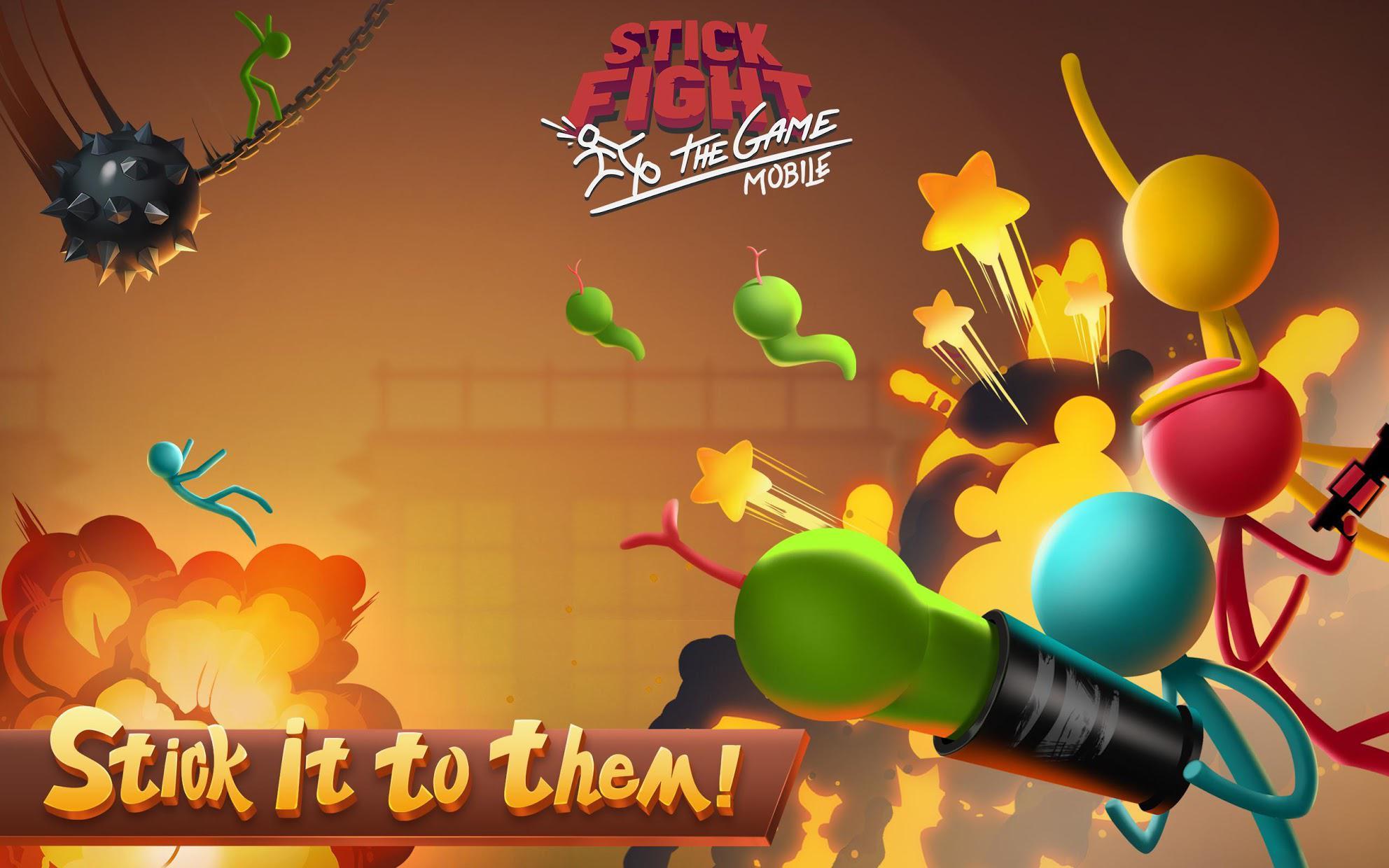 逗斗火柴人(Stick Fight: The Game Mobile) 游戏截图1