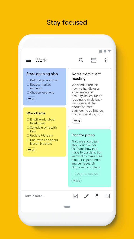 Google Keep - 记事和清单 游戏截图5
