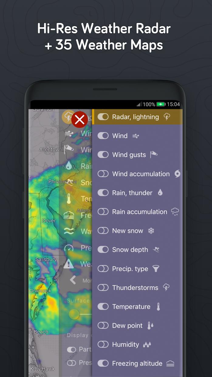Windy.com - Wind, Waves and Hurricanes Forecast 游戏截图5