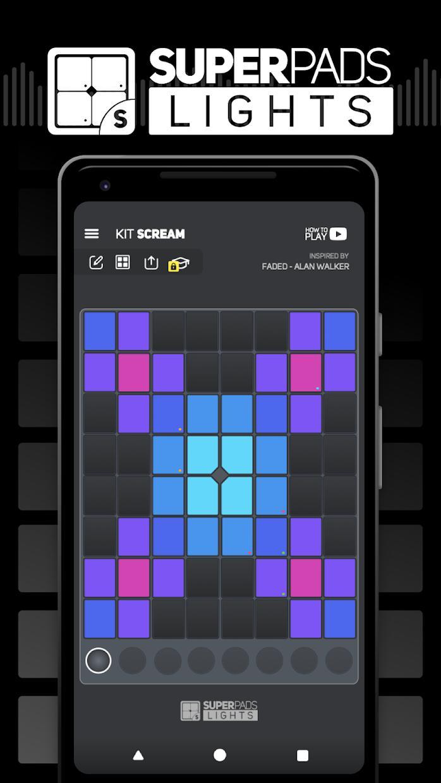 SUPER PADS LIGHTS - 您的 DJ 应用程序 游戏截图1