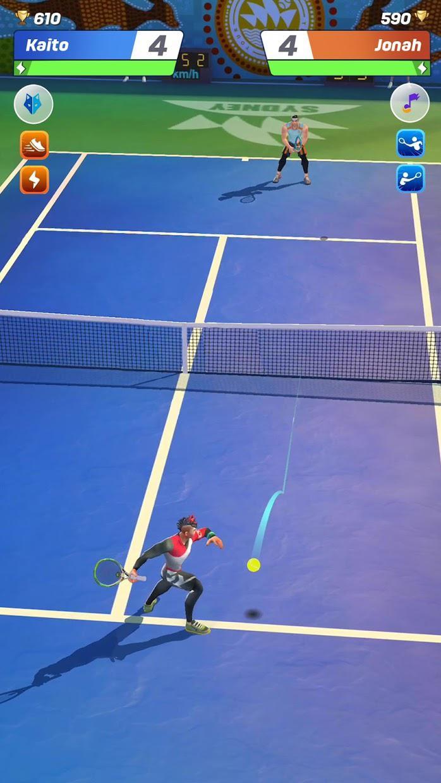 网球传奇:3D 运动 - 免费多人游戏 游戏截图1