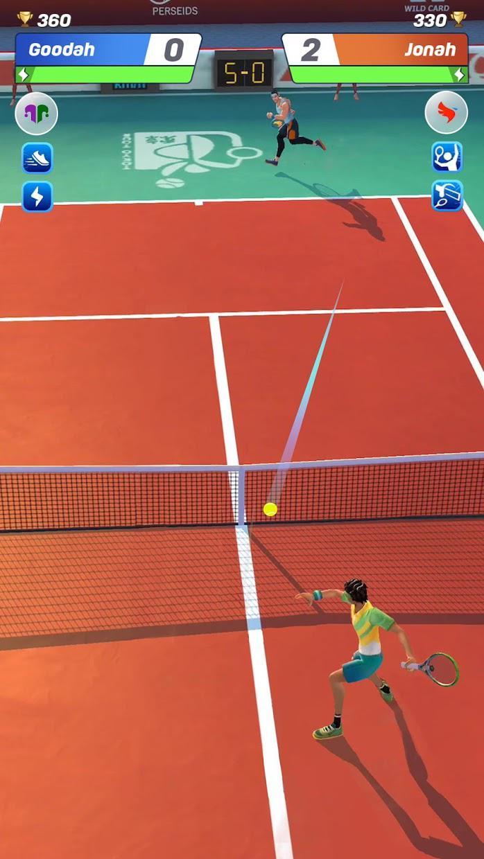 网球传奇:3D 运动 - 免费多人游戏 游戏截图2