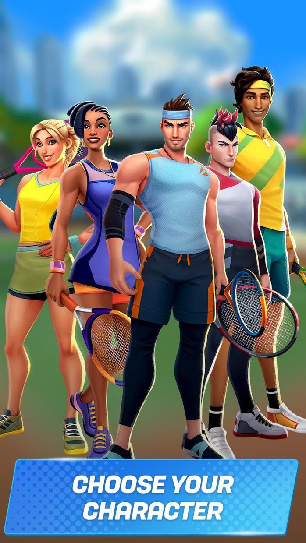 网球传奇:3D 运动 - 免费多人游戏 游戏截图4